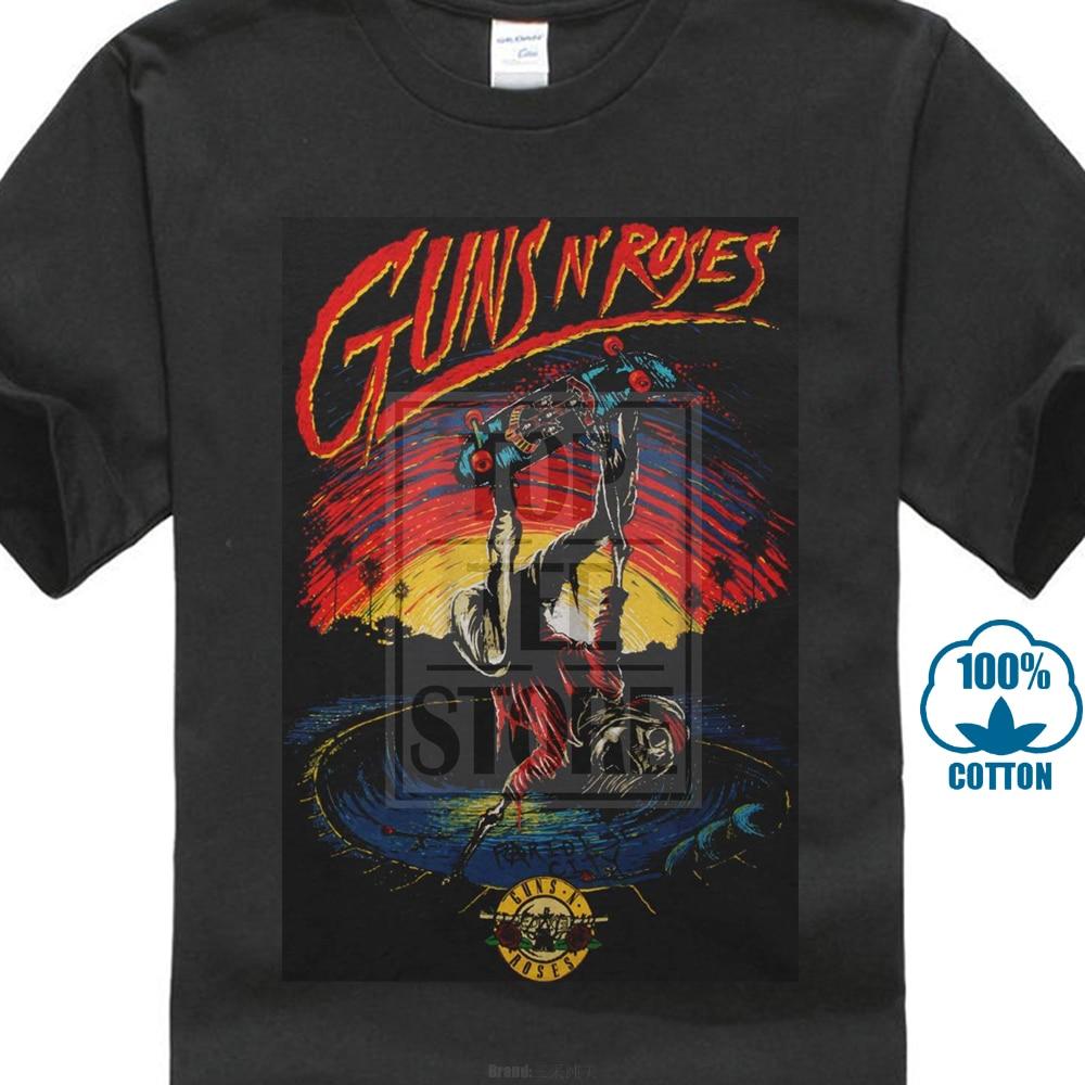 Guns N Roses MenS Skate Tee T Shirt Black