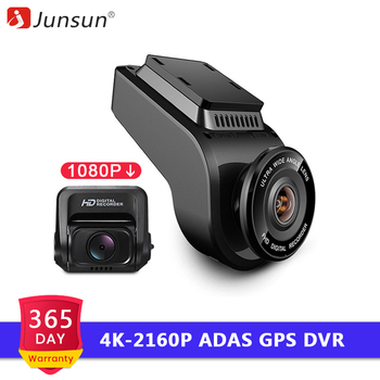 Junsun 4K Ultra HD Car Dash Cam with 1080P 170 Degree Sony Sensor Rear Camera 2160P 60fps Night Vision Support WiFi GPS Tracker front lip for lexus gs350