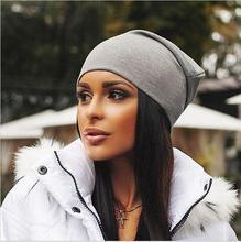 Marca New mulheres de inverno gorros Cotton Blended Beanie desleixo chapéu morno Festival Unisex Mens senhoras Cap cor sólida gorro chapéus(China (Mainland))