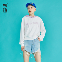 Toyouth New Autumn White Sweatshirts for Women Long Sleeve Ulzzang Hoodies Letters Printed Casual Pullover Harajuku Tops Moletom