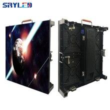 New 500*500mm gabinete interior p3.91 levou tela de aluguer levou exibição de publicidade em vídeo tela gabinete de alumínio fundido parede