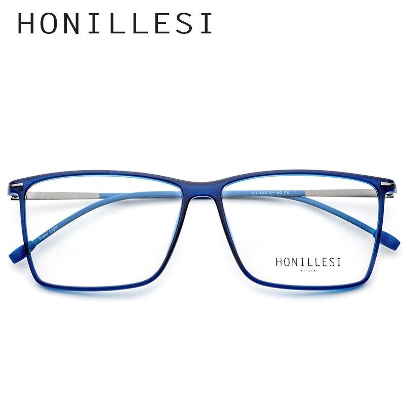 f082eec648 TR90 Glasses Frame Men Transparent Big Square Prescription Eyeglasses 2018  Metal Vintage Spectacles Myopia Optical Frame
