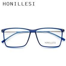 ede8b0617 TR90 نظارات إطار الرجال شفافة كبيرة مربع النظارات الطبية 2018 معدن خمر نظارات  قصر النظر بصري