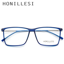 4b45a9e10160b TR90 Óculos de Armação Homens Transparente Grande Praça Óculos de grau 2018  Do Metal Do Vintage Óculos de Miopia Frame Ótico Eye.