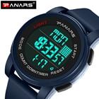 PANARS Men's Watch LED Digital Sport Men Wrist Watch Alarm 50m Waterproof Sport Watches Military For Men Relogio Masculino