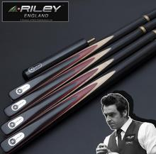 RILEY High-end Excellent Handmade 3/4 Piece Snooker Cue Kit with Good Case with Extension 9.8mm Billiard Snooker Stick 2019 original riley slghtrlght rsr 9e snooker cue high end billiard cue kit stick with case with riley extension 9 5mm tip snooker