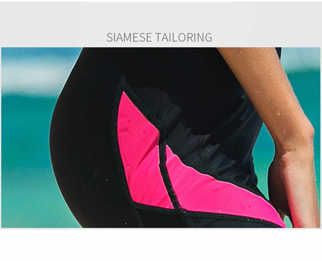 Perimedes neopren Zip Shorty kadın Wetsuit kadın kısa tüplü dalgıç kıyafeti uzun kollu erkek Wetsuit önlemek döküntü Guard # g45