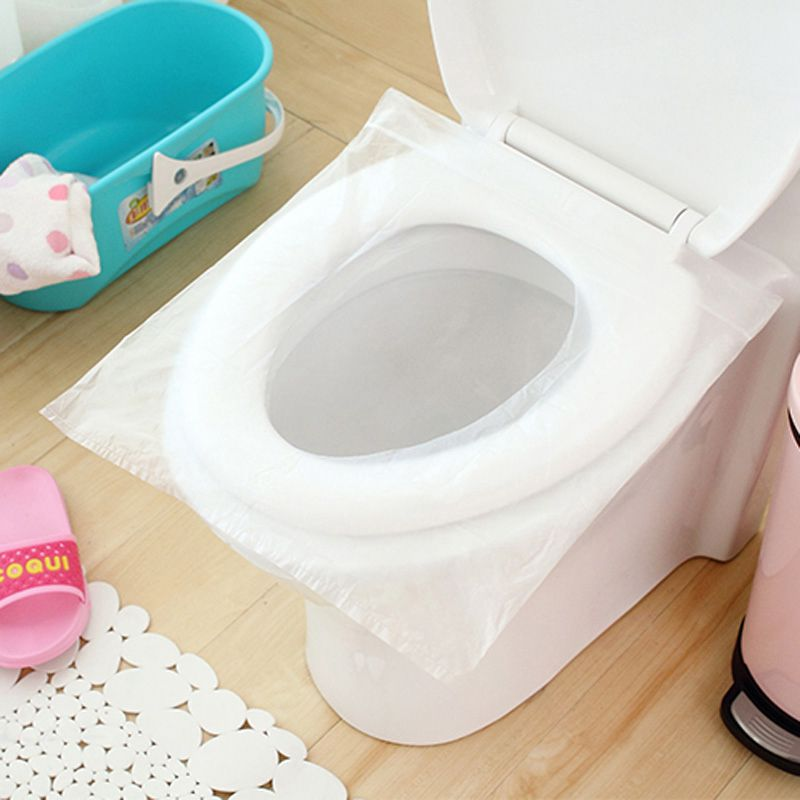 1 bag (6pcs) Disposable Travel Safety PE Plastic Toilet Seat Cover Mat Cushion Maternity Waterproof Antibacterial Potty Pad toilet seat