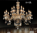 Free shipping K9 Modern Lustre Crystal Chandeliers 4/6/8/15 Arm Chandelier Hand Blown best selling Chandelier for bedroom