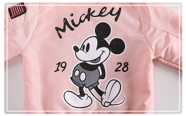 Baby Clothes Cartoon Mickey Pattern Girls Boys Jackets Coats Toddler Kids Jacket Outwear Baseball Windproof Children Clothes New 10
