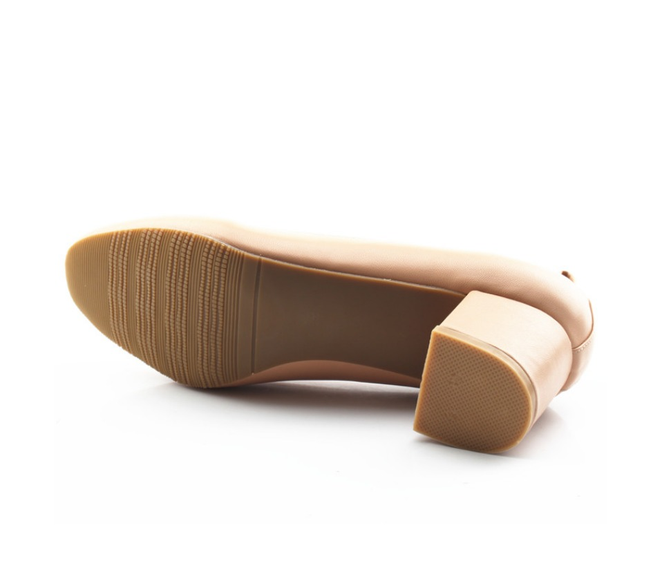 Shoes Women Genuine Leather Fashion Office and Career Rounded Toe 2-inch Block Heel Fashion Office Lady Pumps Size 34-41, K-307 44