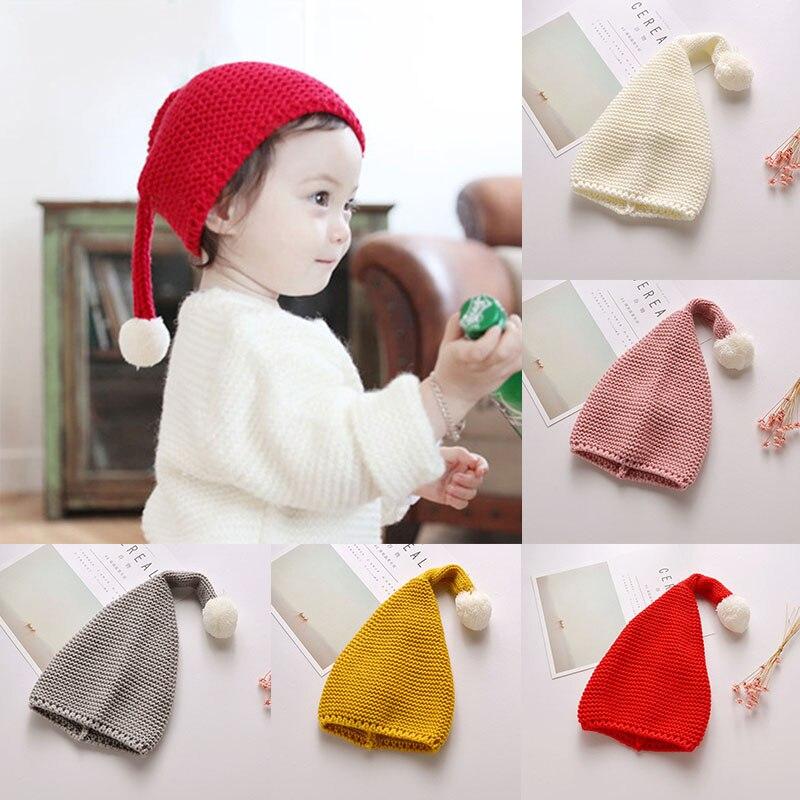 Winter Baby Hat For Girls Soft Knit Baby Boy Hat Bonnet Pompom Winter Warm Children Hats Beanie Children Newborns Kids Cap muts