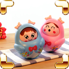 New Arrival Gift Baby Roly-poly Toy Kids Rattle Tool Cartoon Musical Toys Children Doll Tumbler Learning Education Cute Bell