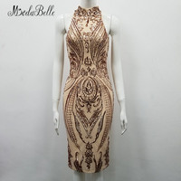 modabelle Summer Short Cocktail Dresses For Women 2018 High Neck Sexy Sequin Party Knee Length Formal Dresses Evening Prom