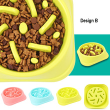 Anti-choke dog feeder bowl (helps slowing down eating process)