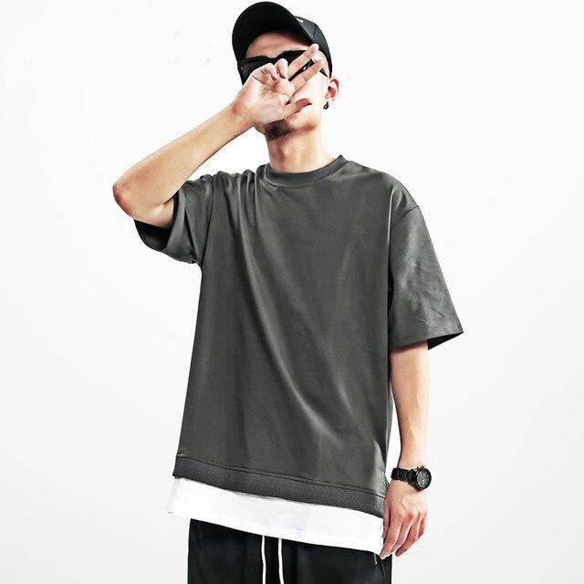2017 Korea East Gate Mens Womens Loose Shoulder Short Sleeve T Shirt