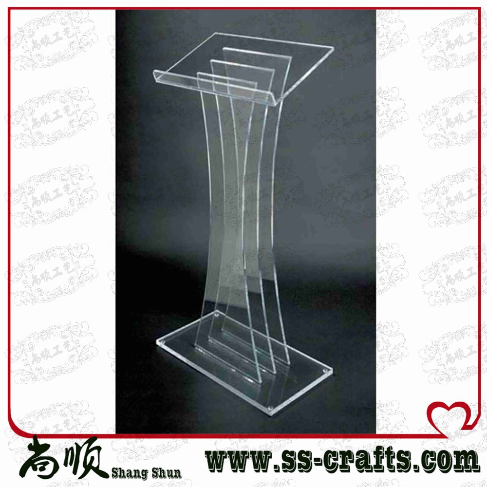 Large Transparent Plexiglass Prodium For Ceremony Lectern For Ceremony Plexiglass