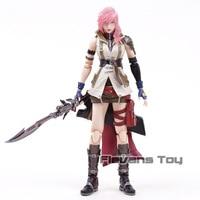 Genuine Play Arts Kai Dissidia Final Fantasy XIII Lightning Eclair Farron PVC Action Figure Collectible Model Toy