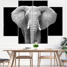 Elephant Painting Canvas Prints Animal White Anime Poster Nordic Print Modular Pictures