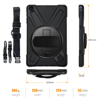galaxy tab Case For Samsung Galaxy Tab A 10.1 inch 2019 SM-T510 T515 Rugged Hybrid Stand Cover Handle Rotate Shoulder Strap Shockproof Kids (4)