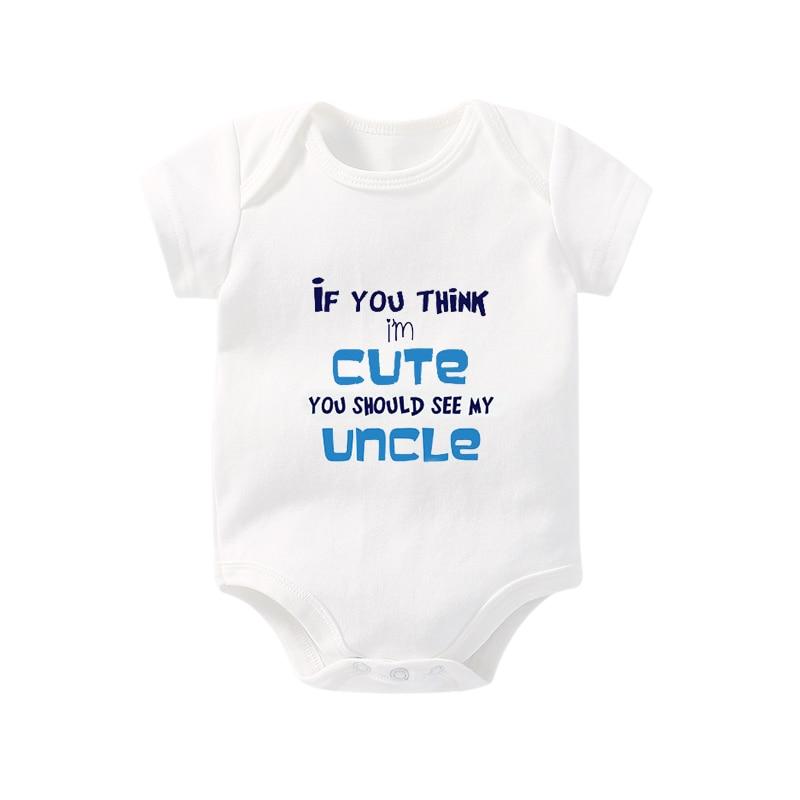 Culbutomind אם YouThink אני חמוד אתה צריך לראות את בגדי הדוד התינוק שלי תינוקת בייבי תלבושות ילוד תינוקת פעוט תינוקות