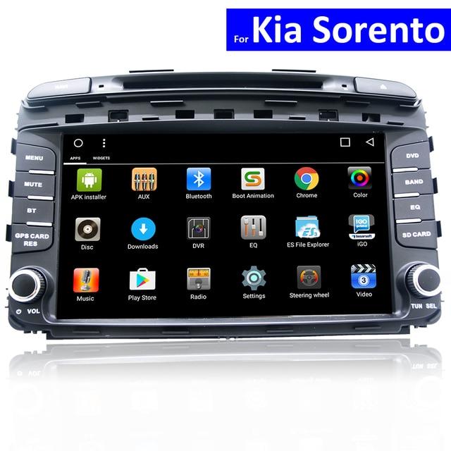 Автомобильный DVD на основе Android для Kia Sorento, GPS навигация, 3G, 4G, Wi Fi, ТВ, Bluetooth, стерео, USB, SD, MP3, сенсорный экран, Авторадио