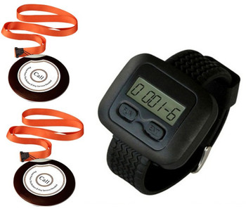 Patient call watch pager, hospital wireless nurse call system,healthcare service equipment, 2 suspend necklace nurse but