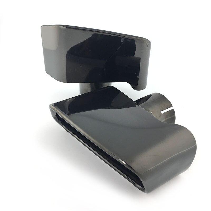 Top qualité 304 acier inoxydable/noir chromage voiture tuyau d'échappement silencieux pointe pour BMW F18 F10 5-série 2013 2014 accessoires