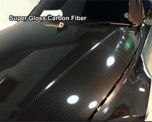 Super Gloss 5D Carbon Fiber Vinyl Wrap For Car Vinyl Film Vehicle Decal Laptop Skin Phone Cover Motorcycle