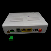 Alcatel Lucent Bell GPON ONT I-120E GPON ONU с зеленым входом SC/APC, 2 порта Ethernet и один телефонный порт, английская версия