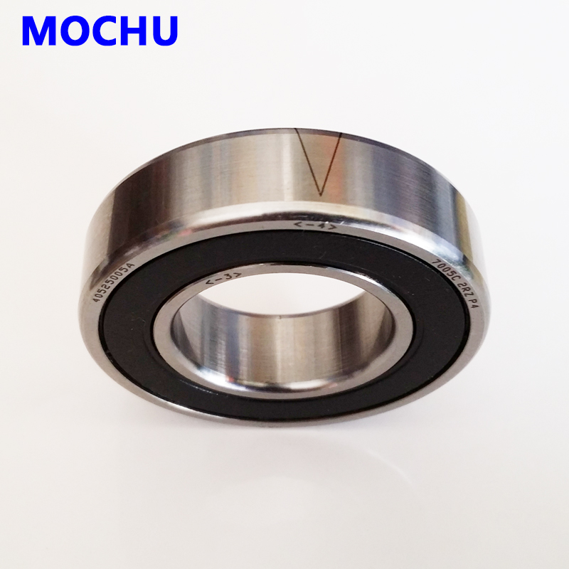 1pcs 7005 7005C 2RZ P4 25x47x12 MOCHU Sealed Angular Contact Bearings Speed Spindle Bearings CNC ABEC-7 1pcs mochu 7005 7005c 7005c p5 25x47x12 angular contact bearings spindle bearings cnc abec 5