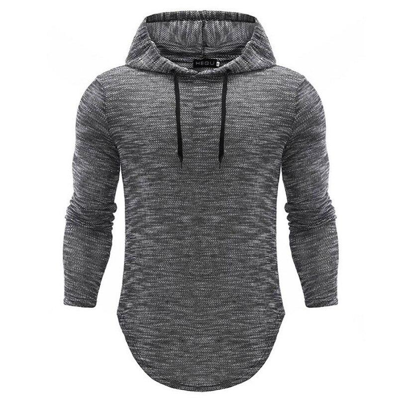 Hoodies Men 2018 Brand Hip-hop Male Long Sleeve Solid Color Hooded Sweatshirt Mens Hoodie Tracksuit Sweat Coat Casual Sportswear