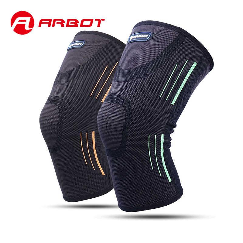 Arbot 高弾性バスケットボール膝パッド支持ブレース圧縮プロテクターひざまずい Scotach スポーツ包帯サッカー