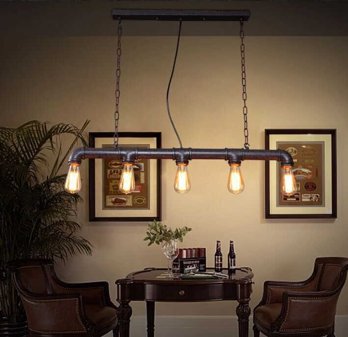 Loft American Industrial Vintage Pendant Light Retro Water Pipe Pendant Lamp  For Warehouse/dining Room