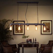 Altillo americano Industrial Vintage lámpara colgante Retro tubo de agua para el almacén/comedor/KTV/Bar E27 portalámparas
