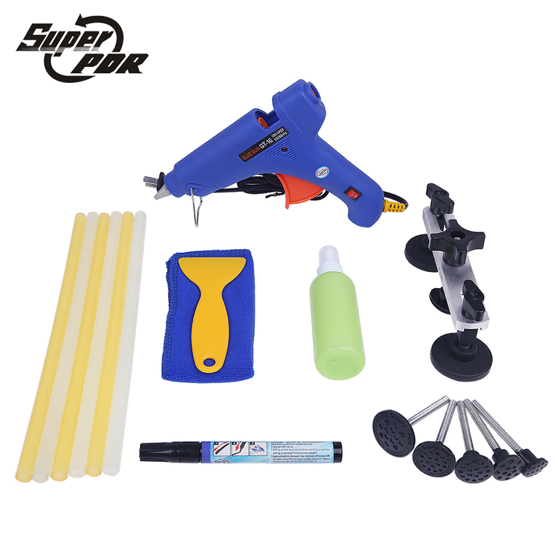 Super PDR Paintless Dent repair tool kit pulling bridge glue gun Scratches repair pen hand tools for car body dent removal цена