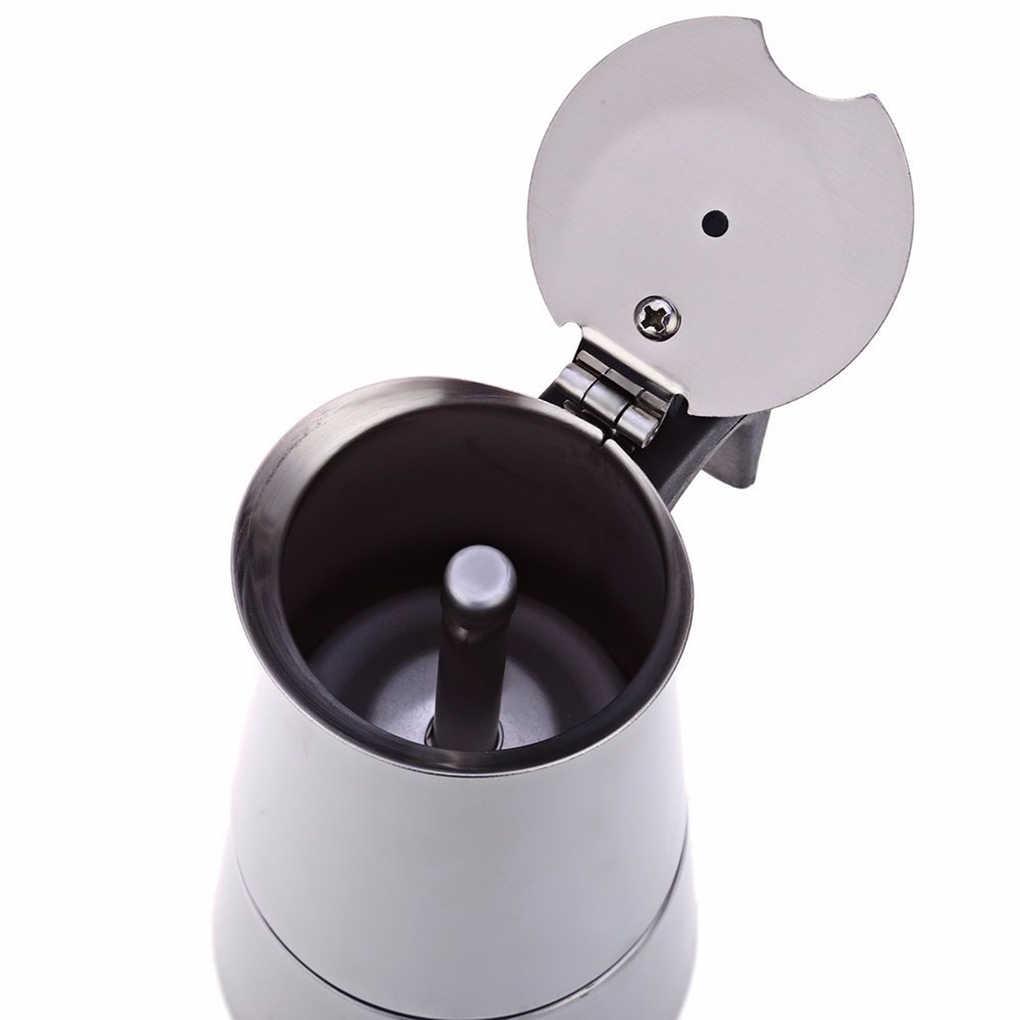 100ML 200ML 300ML 450ML Chaleira de Aço Inoxidável Chaleira Bule de Café Casa Pote de Café Do Escritório