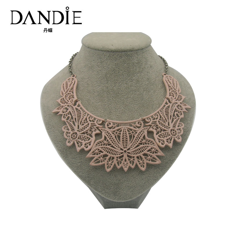 Dandie Zinc Alloy Popular Choker Necklace Yellow Pink Silver Color Female Fashion Jewelry 2018 New Design