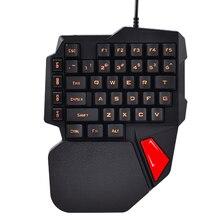 Technology K108 Wired 3 Colors LED Backlit 38 Keys Gamer Keypad Usb Ergonomic illuminated Single Hand Gaming Keyboard Computer