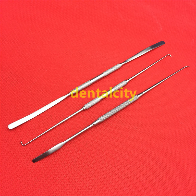 Bone Nerve Peelers Elvators Double ended orthopedics instrument 3pcs set