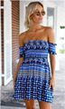 women sexy mini beach dress bohemian strapless off shoulder print short summer dress female open back backless vestidos N101