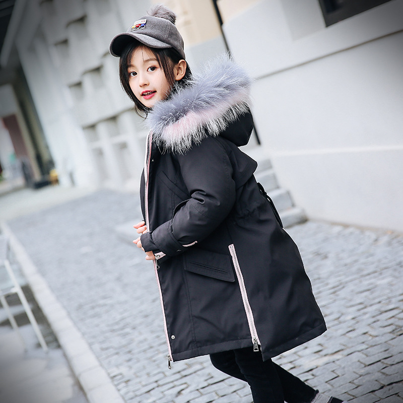 New Kids Winter Jackets For Girls Clothing Warm Duck Down Girls Winter Coats -30 Teenage Children's Outerwear Parka 6 8 10 12 14 winter girls jackets girls parka children outdoor coats kids outwear solid color teenage girls coats kids clothing 2016