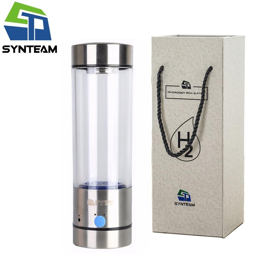 New Brand Hydrogen Water Bottle 400ml Quality Hydrogen Water Generator Office Family Alkaline Water Ionizer Health Water Maker