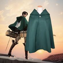 Anime Attack On Titan Cloak Shingeki no Kyojin Scouting Legion Eren Levi Cape Halloween Unisex Cosplay Green Clothes