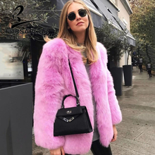 FURSARCAR 2019 Whole Skin Natural Real Fox Fur Coat Women Winter Luxury O-Neck Female Jacket Thick Warm Fashion