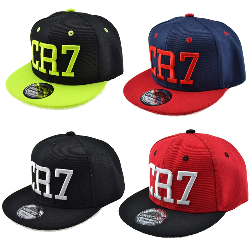 Hip-Hop Hat Baseball-Caps Snapback Embroidery Cristiano Ronaldo CR7 Kids Children Classic