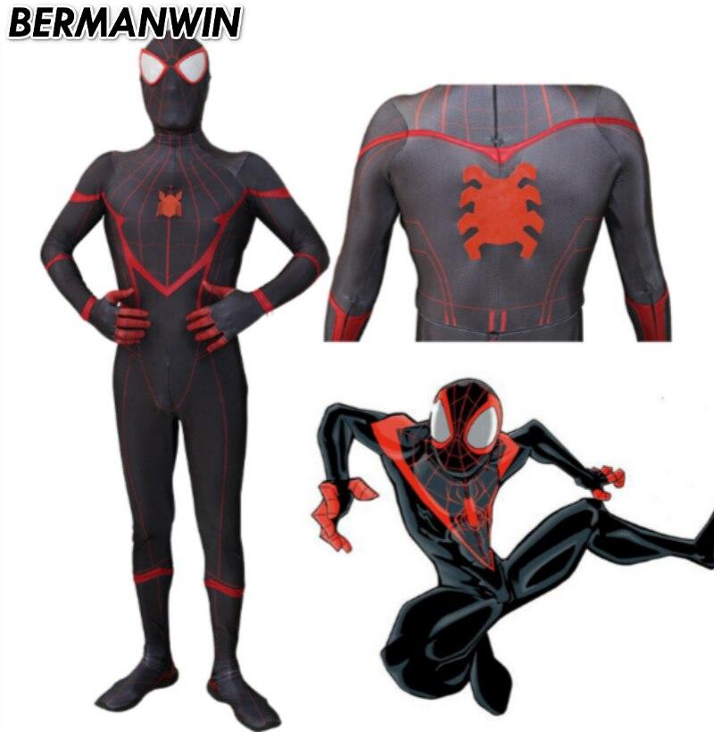 BERMANWIN High Quality Civil War Miles Morales Spiderman