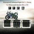 Universal de La Motocicleta de Alta Fidelidad Estéreo Impermeable Reproductor de MP3 Radio FM Altavoz Audio Sistema para Moto scooter ATV
