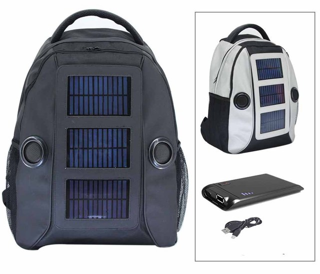 Latest Solar Music Bag With Energy Speaker Backpack 22000mah Battery Drop Shipping Available