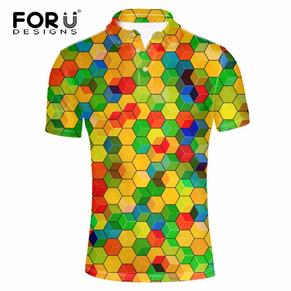 Forudesigns High Quality Men Polo Shirt 3d Printing Shirt For Male